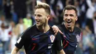 Ivan Rakitic Y Mario Mandzukic, dos de las figuras de Croacia