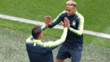 Neymar y Thiago Silva.