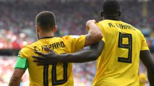 Hazard y Lukaku, figuras de Bélgica.