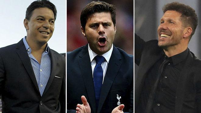 Gallardo, Pochettino y Simeone, candidatos.