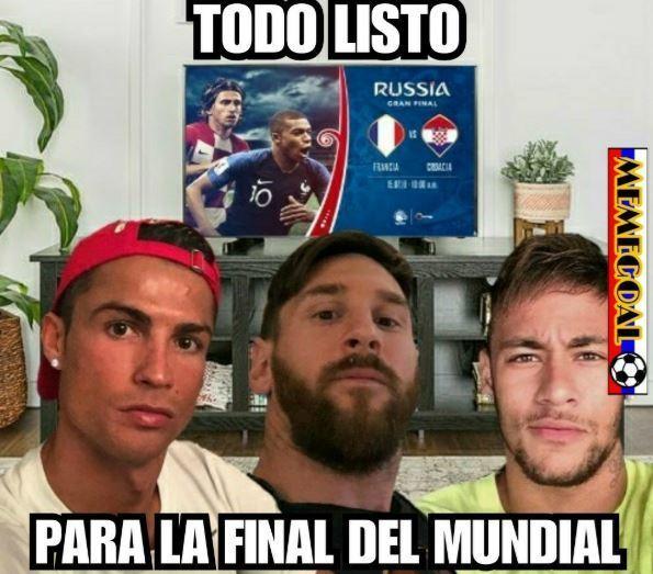 La final del Mundial y Cristiano, Messi y Neymar viéndolo por la tele