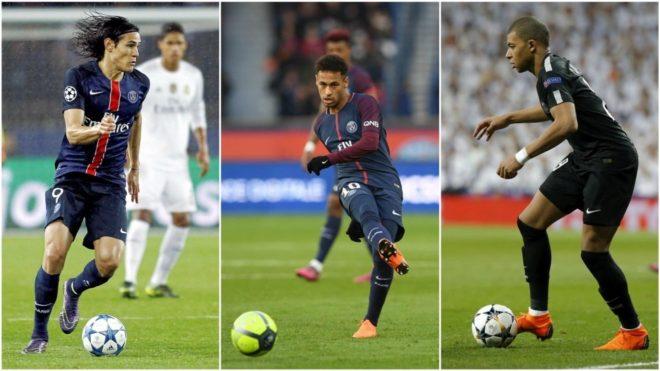 El tridente del PSG, el más goleador del mundial