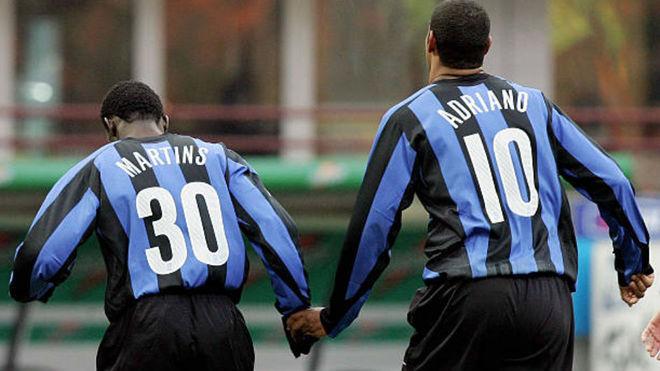Martins y Adriano en el Inter.