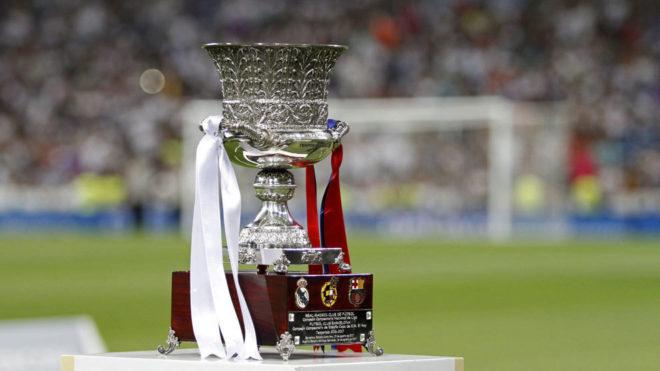 El trofeo del choque entre campeones españoles.