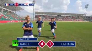 Los niños que recrearon la final del Mundial