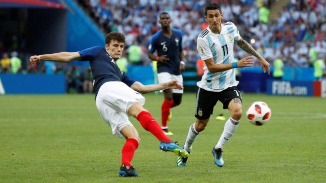 Pavard marcó el 2-2 para Francia ante Argentina