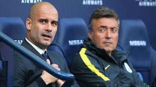 Guardiola y Domenec Torrent Font trabjando en Manchester City
