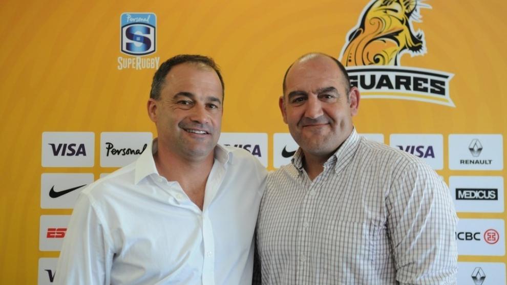 Mario Ledesma y Nico Fernández Miranda el día que asumieron como...