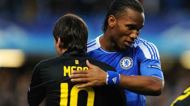 Leo Messi y Didier Drogba.
