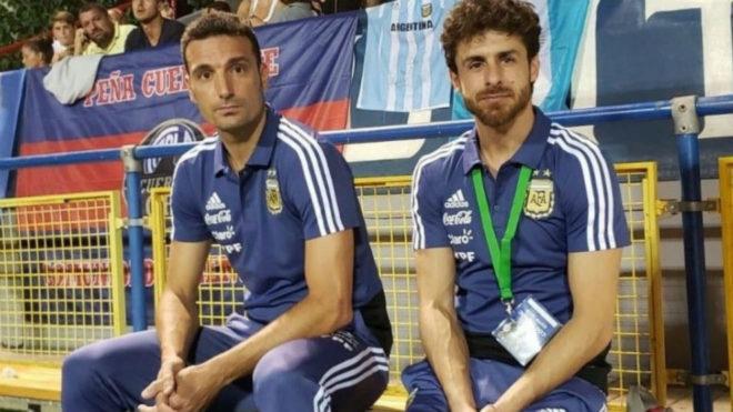 Lionel Scaloni y Pablo Aimar, durante el último torneo que ganó...