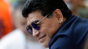 Diego Maradona se conmovió ante el audio de un chico que mostraba...