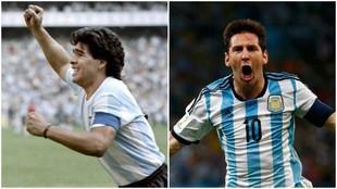Maradona y Messi, dos de los mejores jugadores de la historia, ambos...