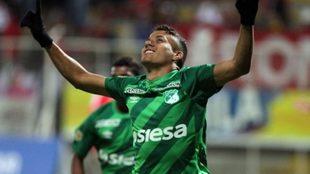 Andrés Roa en un encuentro con Deportivo Cali