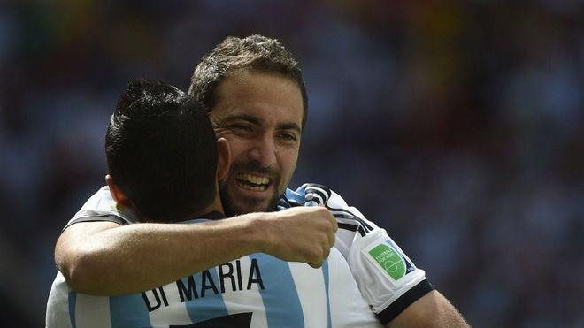 Ángel Di María y Gonzalo Higuaín, dos que no están con Scaloni.