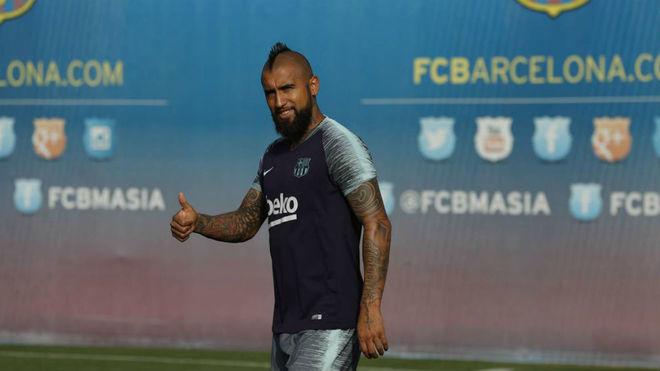 Vidal, refuerzo de Barcelona en la línea de volantes.