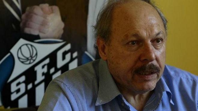 José Peres, presidente del Santos.