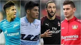 Driussi, Tucu Correa, Higuaín y Alario, figuras de sus equipos