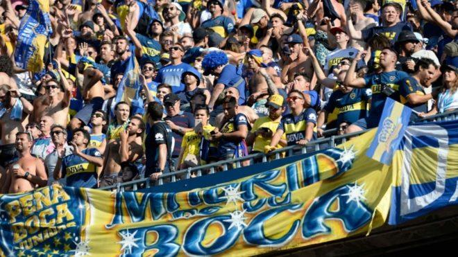 Boca llevó mucha gente a Asunción para el encuentro ante Libertad