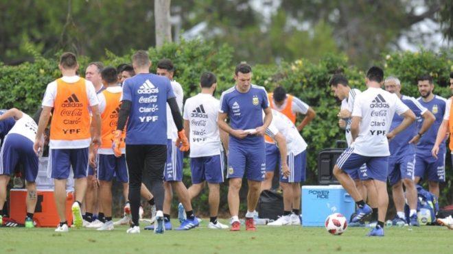 Argentina se prepara para el amistoso con Guatemala