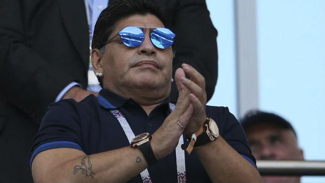 Diego Maradona, nuevo entrenador de Dorados de Sinaloa.