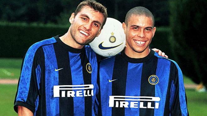 Vieri y Ronaldo en el Inter de Milan.