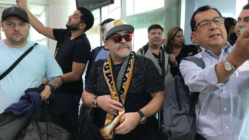 Diego aterrizó este sábado por la tarde a Culiacán