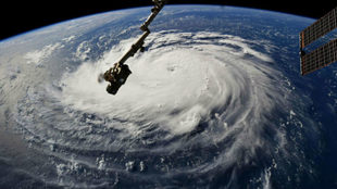 Toma satelital del Huracán Florence