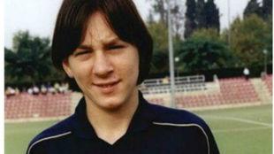 Lionel Messi a los 13 años, cuando recién llegaba al Barcelona