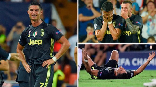 Cristiano, expulsado en su debut con la Juventus