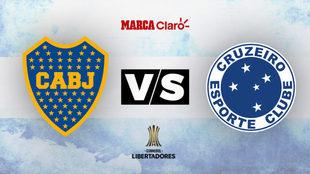 Boca y Cruzeiro se enfrentarán por los cuartos de final de la Copa...