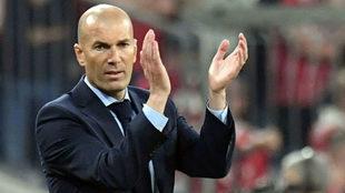 Zinedine Zidane durante un partido.