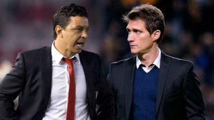 Marcelo Gallardo y Guillermo Barros Schelotto, exfutbolístas y...