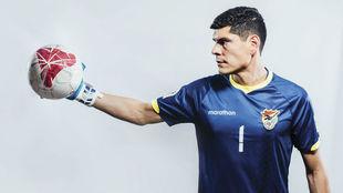 Carlos Lampe, el arquero de la Selección de Bolivia.