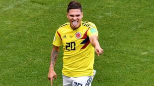 Quintero, en un partido con Colombia en el Mundial de Rusia.