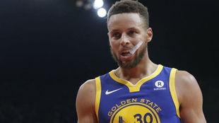 Stephen Curry, la estrella de los Warriors.
