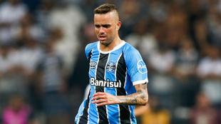 Luan debió ser reemplazado este domingo ante Palmeiras
