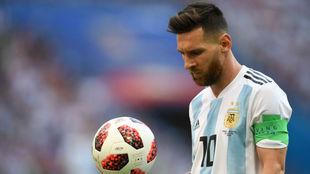Messi no juega con Argentina desde la eliminación en Rusia ante...