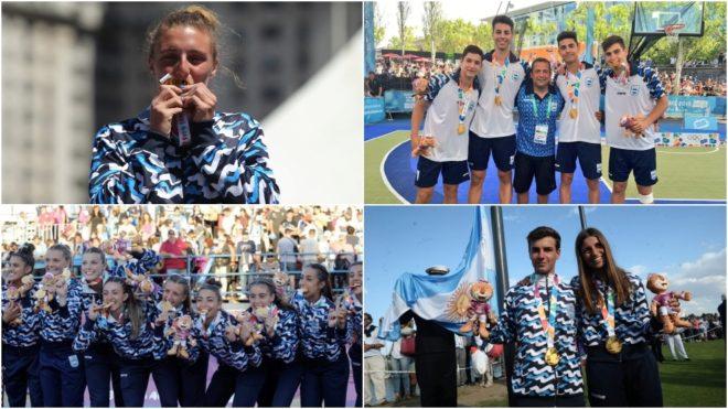 Argentina obtuvo 11 medallas de oro en Buenos Aires 2018