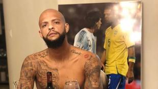 Felipe Melo en la previa al encuentro ante Boca por semifinales