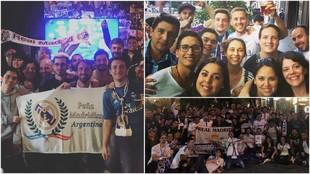 Miembros de la peña argentina del Real Madrid.