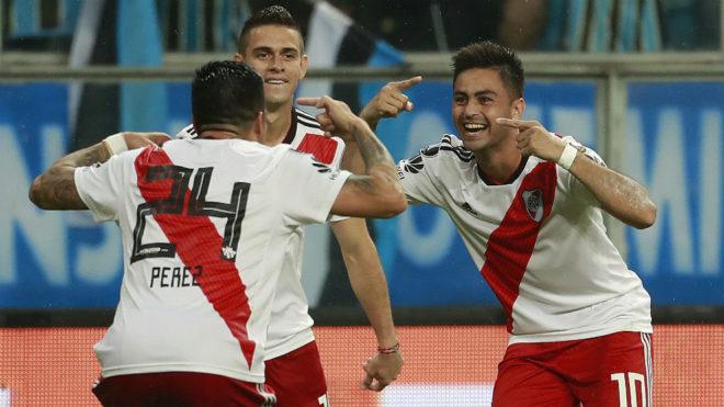 La locura de Martínez, autor de un gol inolvidable para River.