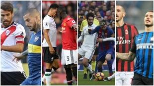 Boca-River, Manchester-Liverpool, Barca-Real, Inter-Milan y muchos...