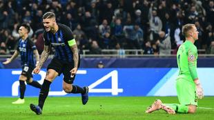 Icardi hace el gol del empate ante el Barcelona,
