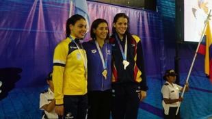 Toda la felicidad de Pignatiello tras obtener su segunda medalla...