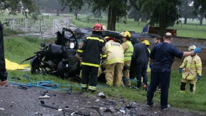 Cuatro hinchas de Boca murieron en un accidente automovilístico