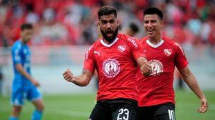 Emanuel Brítez convirtió el primer gol de Independiente ante...