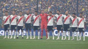 River logró un empate 2-2 en la ida disputada en La Bombonera.