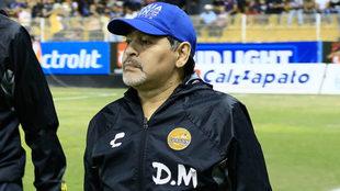 Maradona, entrenador de Dorados de Sinaloa