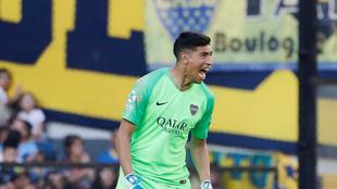 Esteban Andrada tuvo un gran regreso al arco de Boca