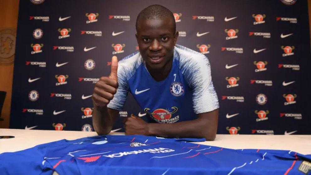 El francés N´Golo Kante renovó con el Chelsea hasta el 2023